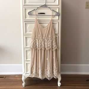 Umgee Cream Ruffle Dress